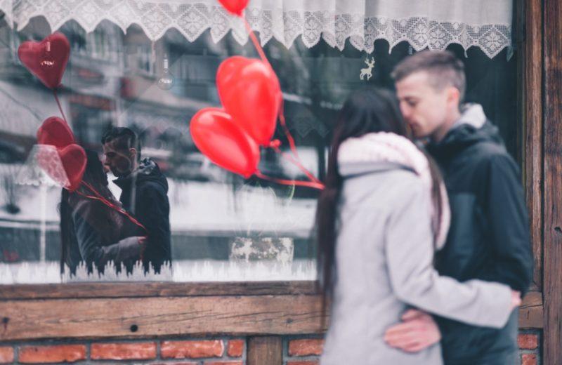 Liebespaar zum Valentinstag